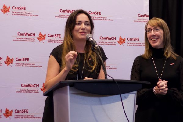Julia Anderson and Helen Scott speaking at the CanWaCH 2019 AGM