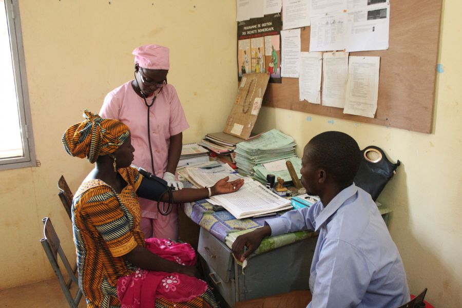 women receiving health check-up in Mali