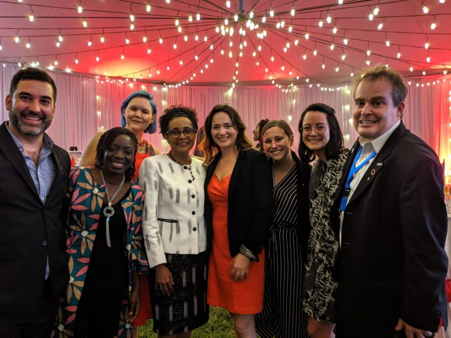 photo of organizing partners at canadian reception for Nairobi Summit