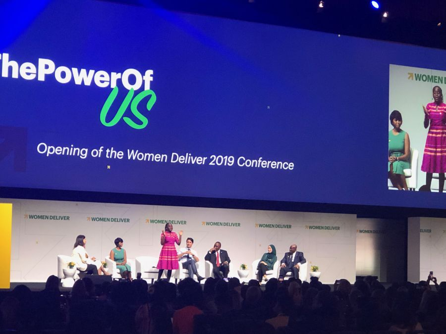 opening plenary stage at women deliver 2019