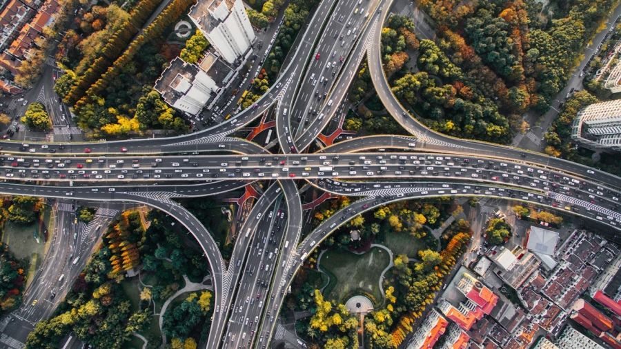 intersection and overlap of multiple highways