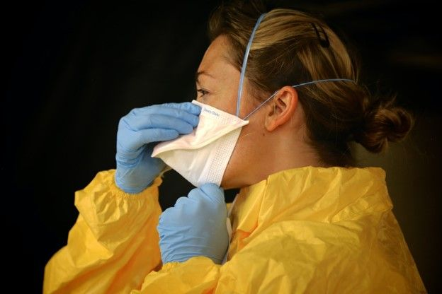 health worker in personal protective equipment