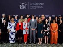 Trudeau with Gender Equality Advisory Council