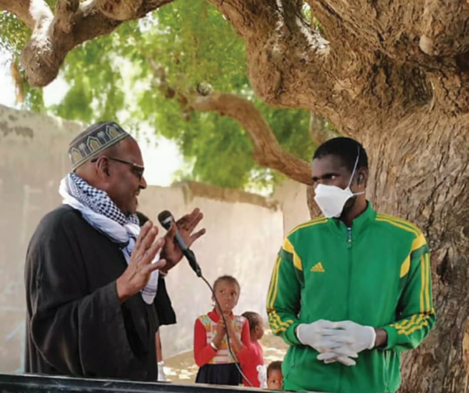 Makhfou Gueye, President of the Community Actors and Secretary General of the Network of Community Actors in the District of Keur Massar, Senegal.